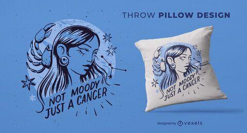 Diseño de almohada de tiro del zodíaco de cáncer