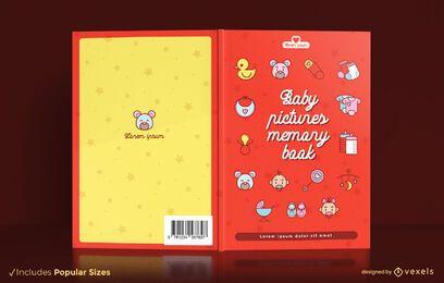 Diseño de portada de libro de fotos de bebé