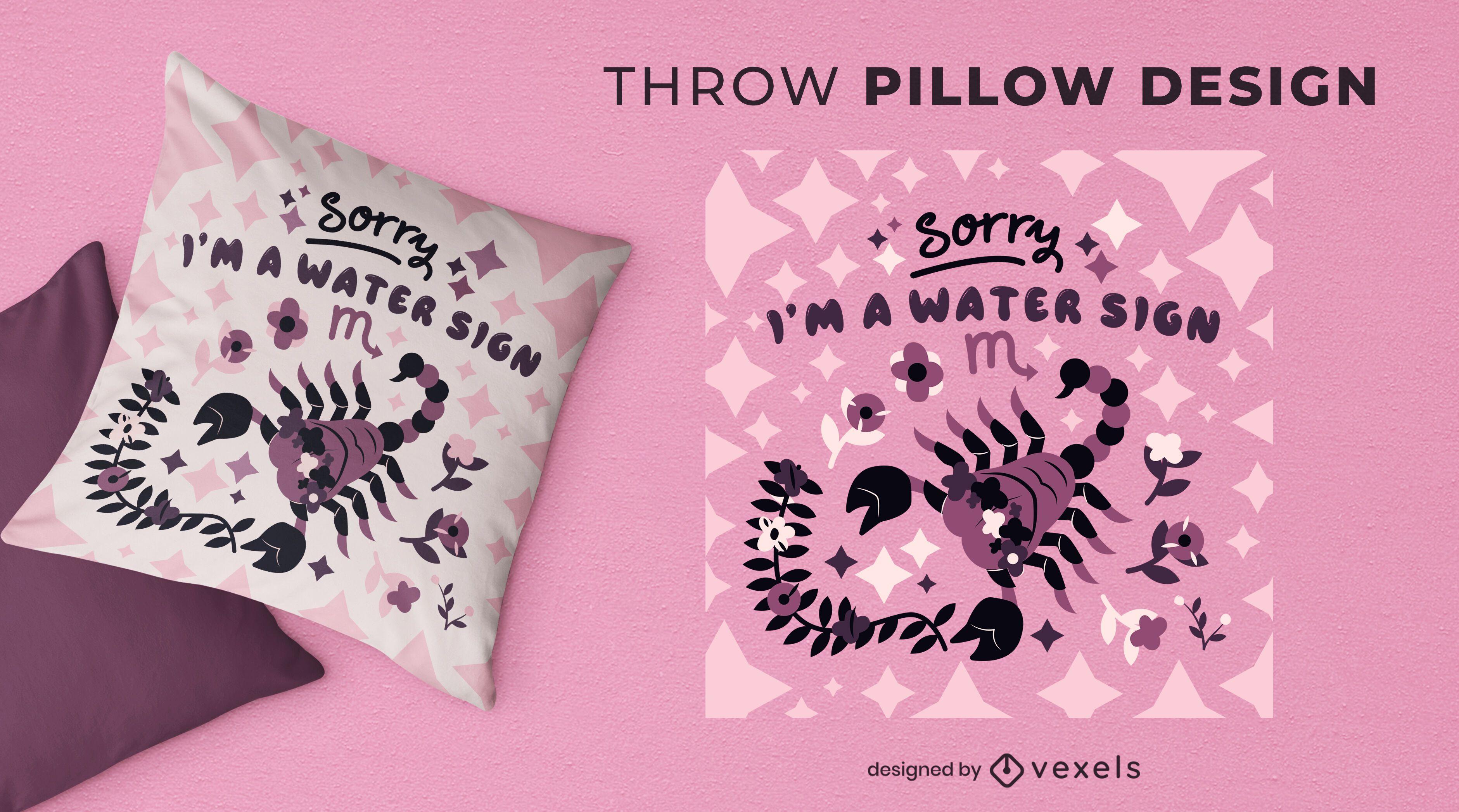 Scorpio zodiac throw pillow design