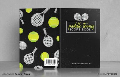 Diseño de portada de libro de puntuación de pádel