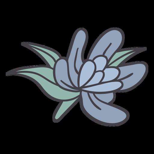 Little blue flower color stroke