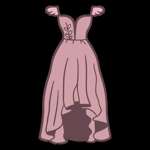 Dress short front long back color stroke