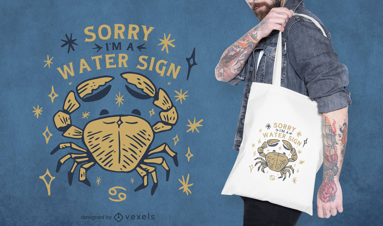 Aquarius tote bag design