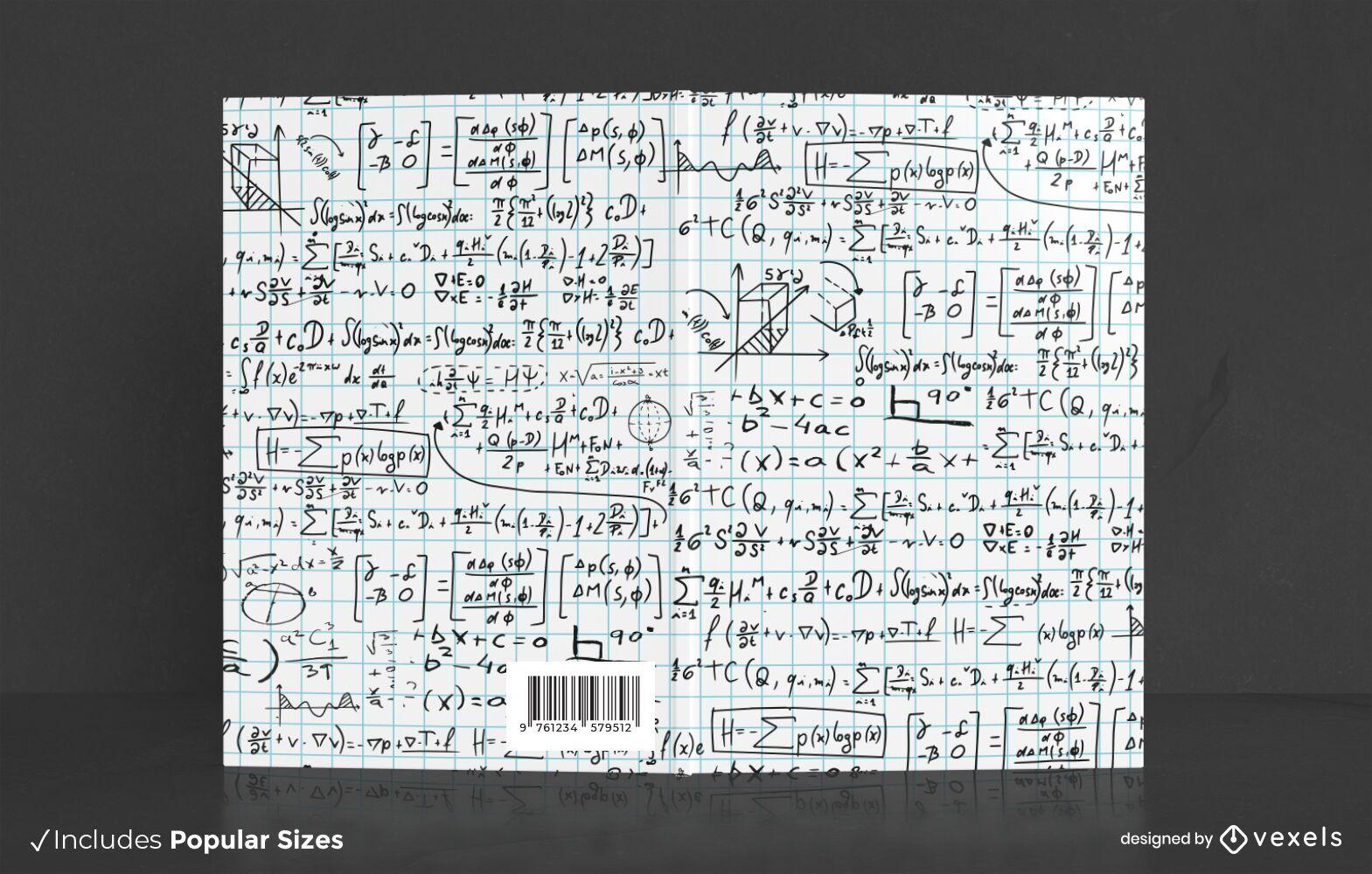 Diseño de portada de libro de símbolos matemáticos