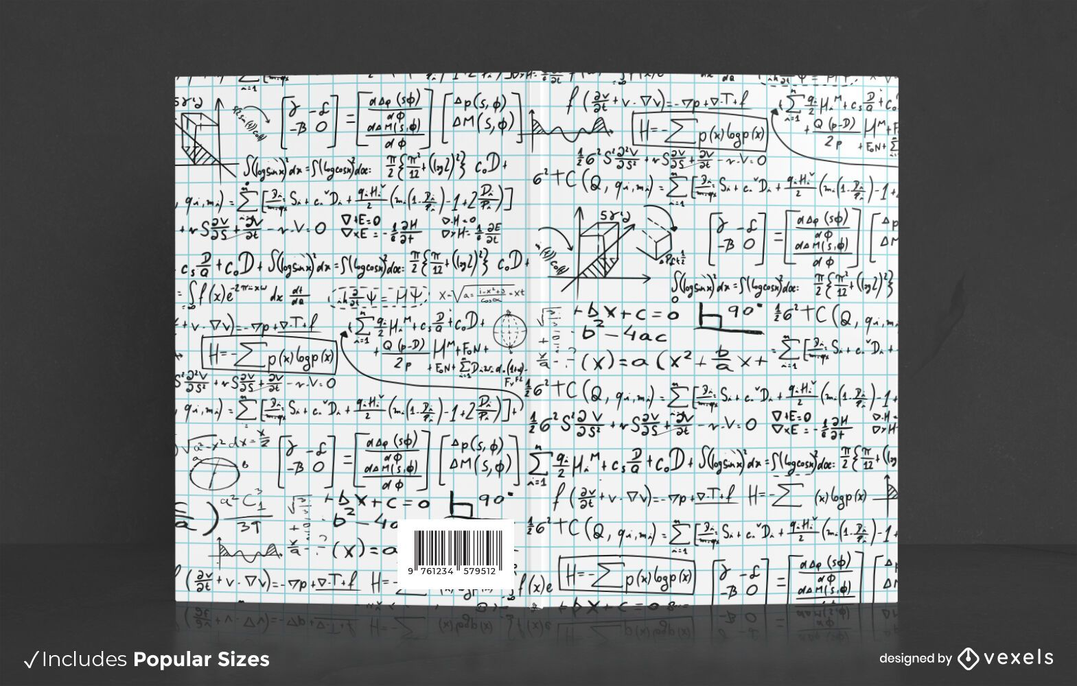 Math symbols book cover design