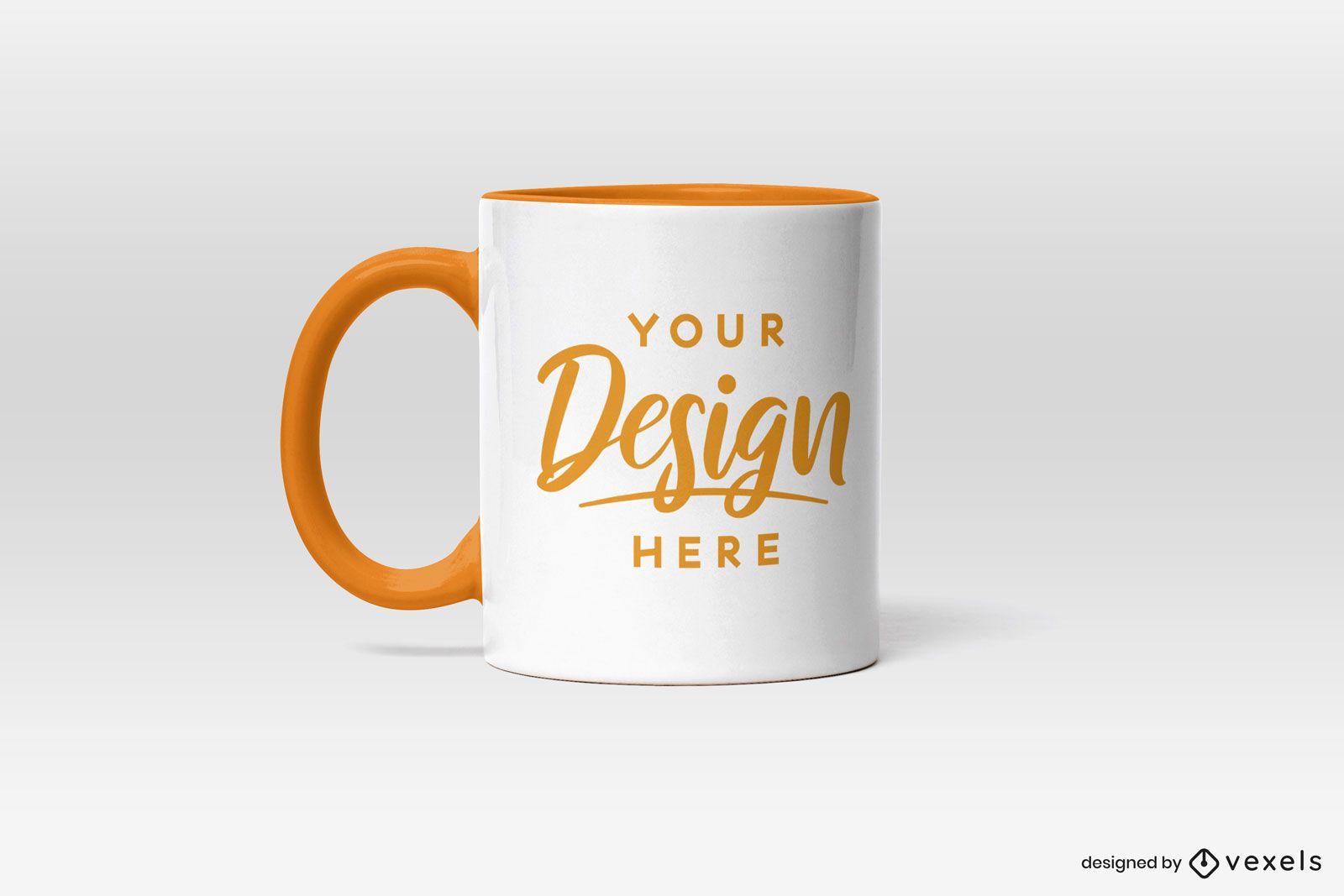 Simple mug on blank background mockup