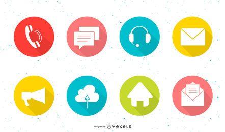 Iconos de colores