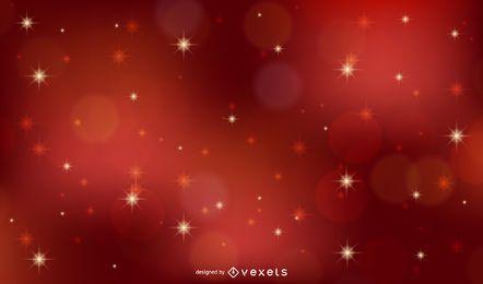Fondo de Navidad vector rojo con estrellas