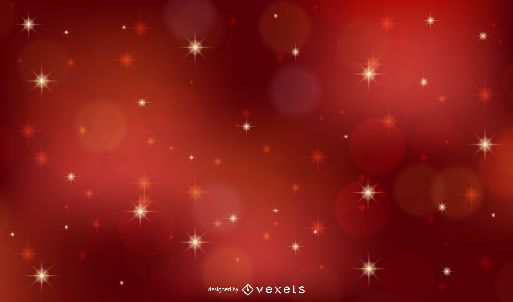 Red vector xmas background with stars