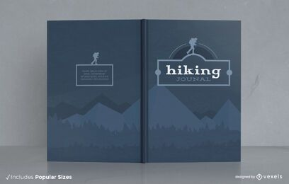Hiking hobby journal nature cover design