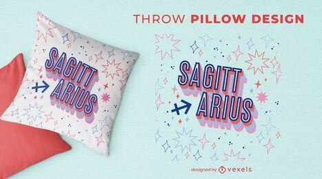 Zodiac sign sagittarius throw pillow design
