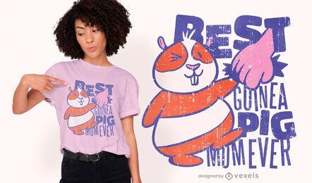 Guinea pig mom cartoon t-shirt design