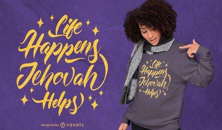 Religion quote lettering t-shirt design