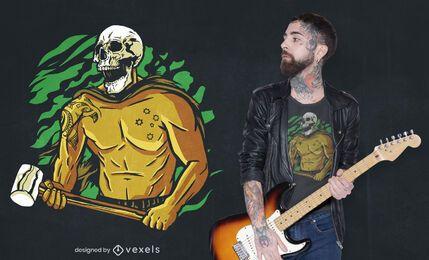 Grim reaper skull character t-shirt design