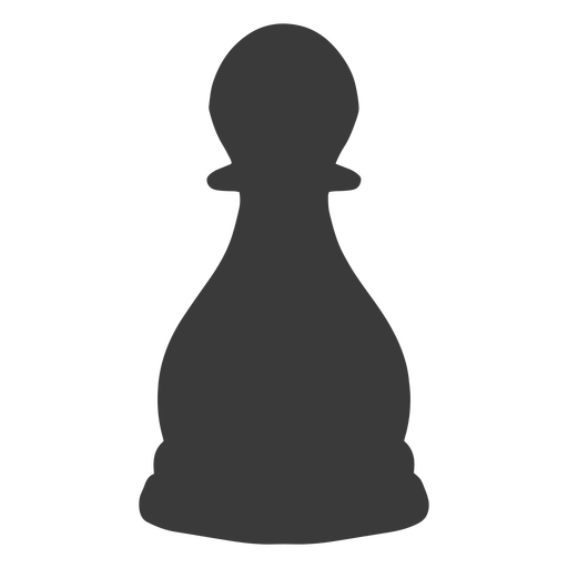 Pawn chess piece simple silhouette