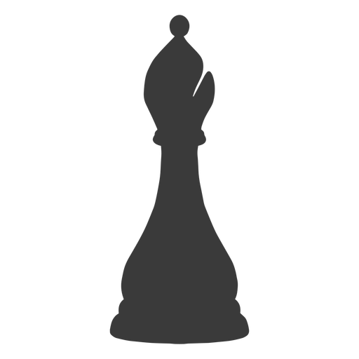 Bishop chess piece simple silhouette
