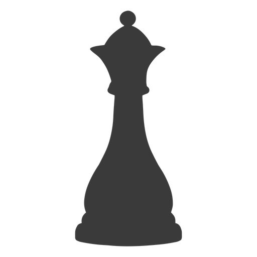 Queen chess piece simple silhouette
