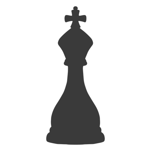 King chess piece simple silhouette