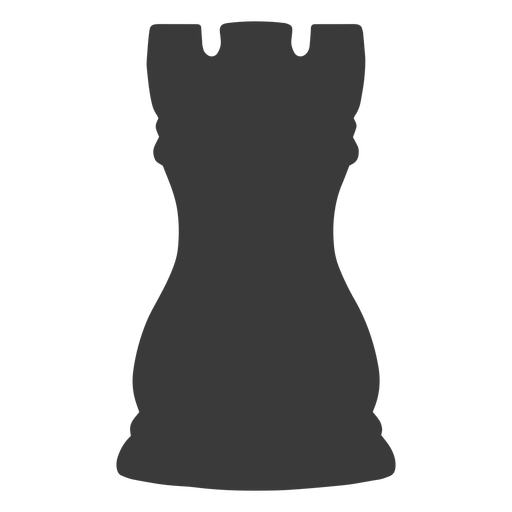 Rook chess piece simple silhouette