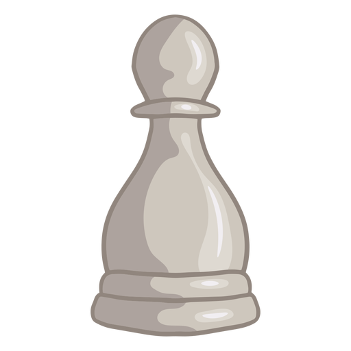 White pawn chess piece color stroke