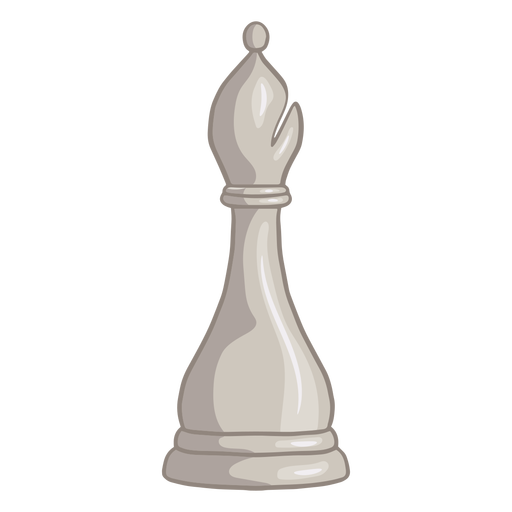 White bishop chess piece color stroke