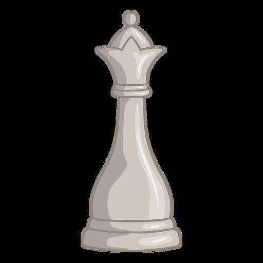White queen chess piece color stroke