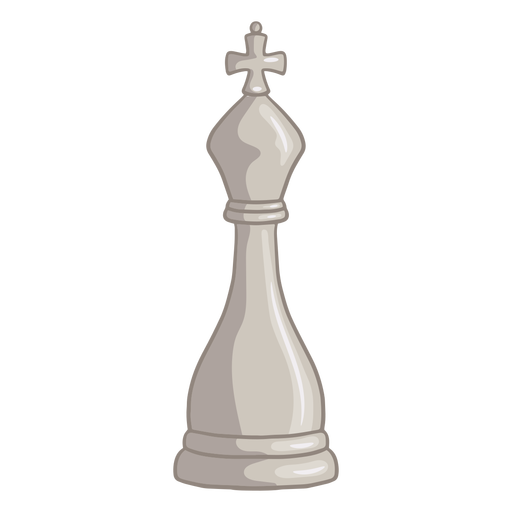 White king chess piece color stroke