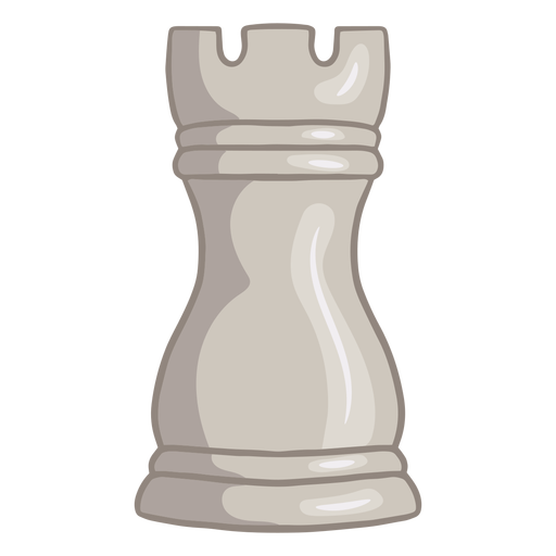 White rook chess piece color stroke