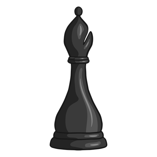 Bishop chess piece black color stroke