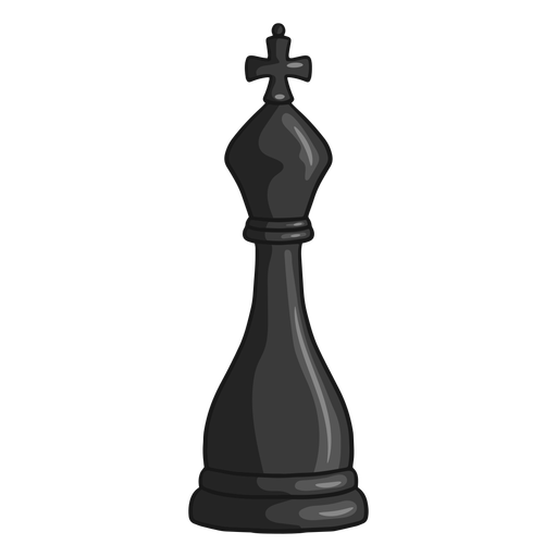 King chess piece black color stroke