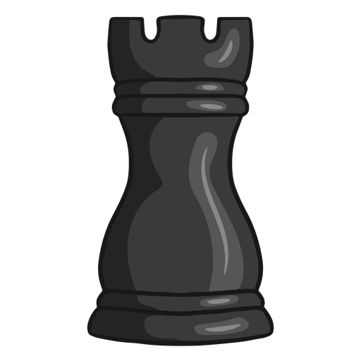 Rook chess piece black color stroke