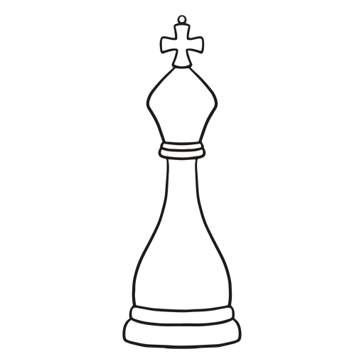 King simple chess piece stroke