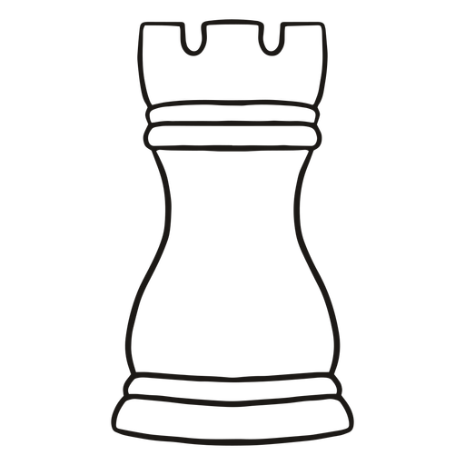 Rook simple chess piece stroke