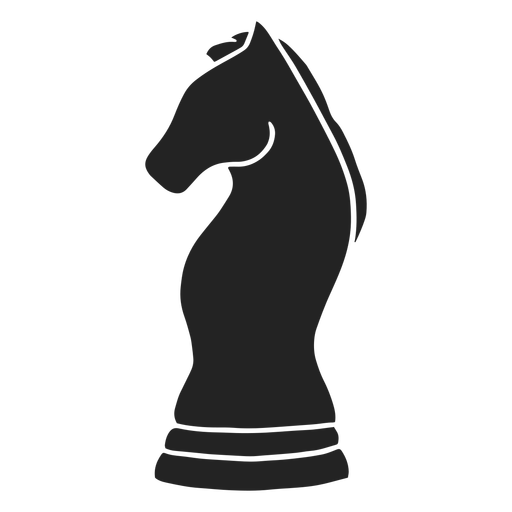 Knight simple chess piece cut out