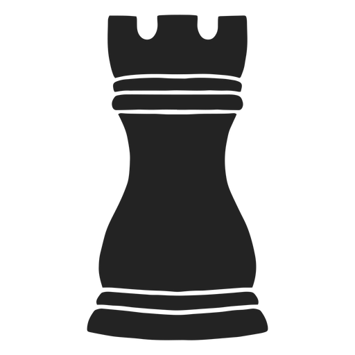 Rook simple chess piece cut out