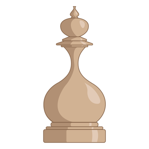 King chess piece white color stroke