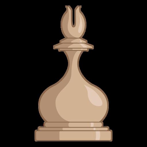 Bishop chess piece white color stroke
