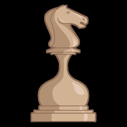 Knight chess piece white color stroke