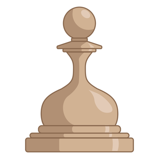 Pawn chess piece white color stroke
