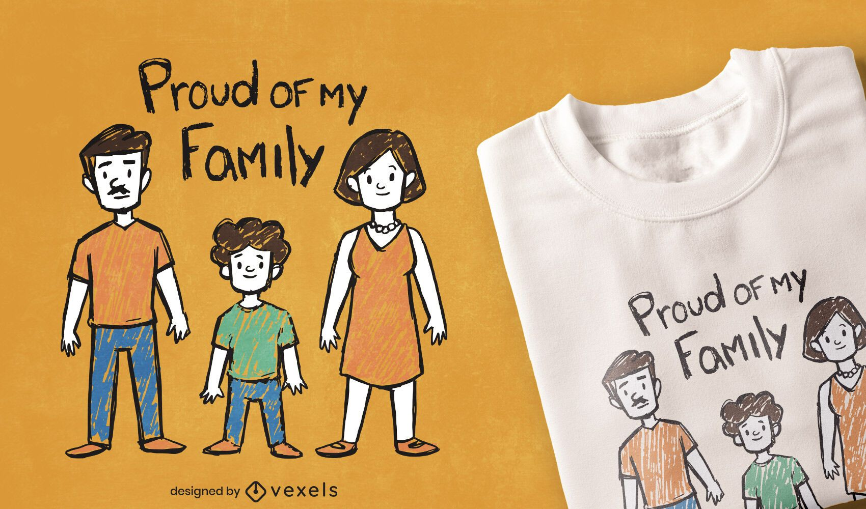 Proud of my family t-shirt design