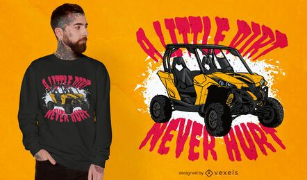 Dirt vehicle transport quote t-shirt design
