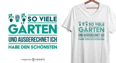 Garden plants german quote t-shirt design