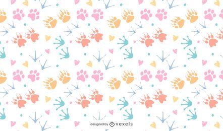 Animal print colorful pattern design