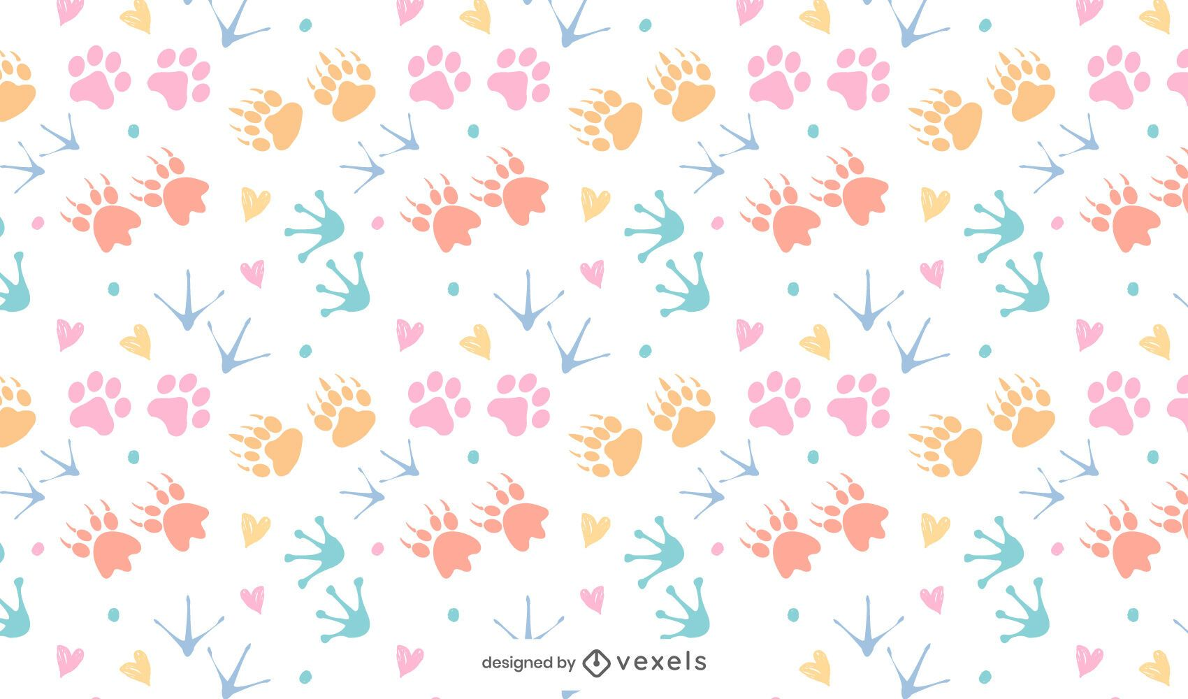 Desenho de padrão colorido com estampa animal