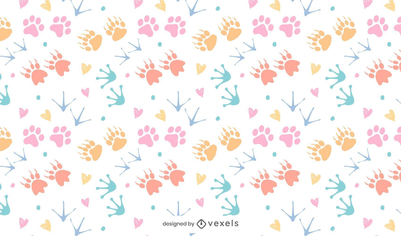 Diseño de patrón de colores con estampado animal