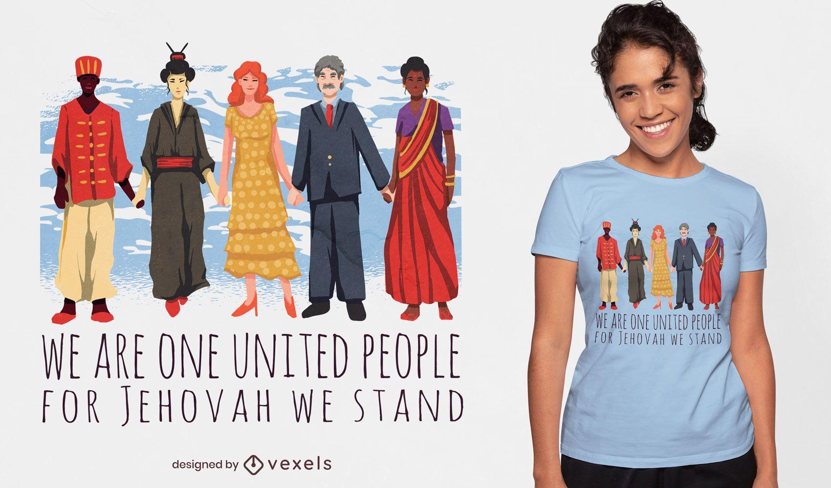 United people culture t-shirt design