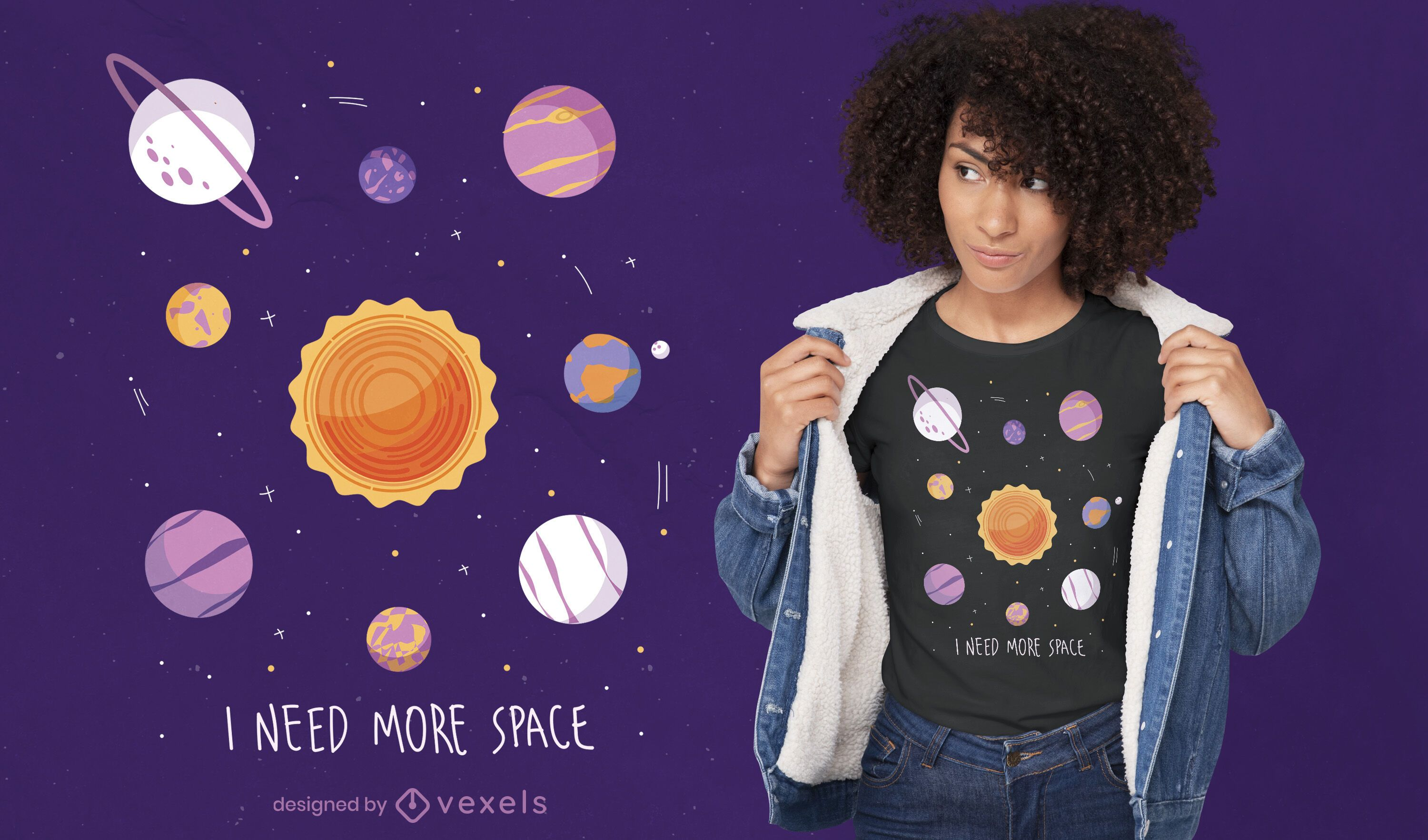 Need more space quote t-shirt design