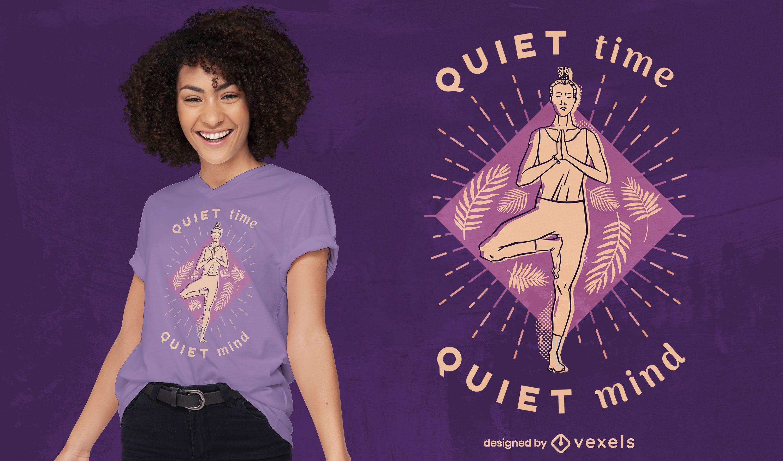 Diseño de camiseta de mujer de yoga.