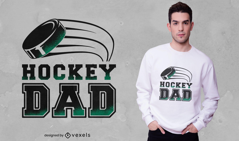 Diseño de camiseta de papá de hockey
