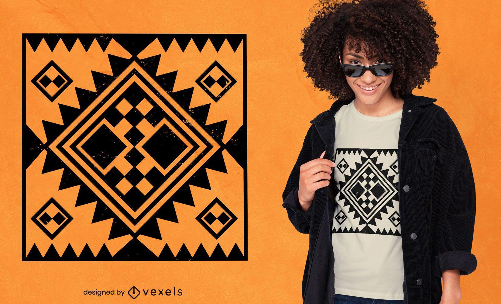 Diseño de camiseta con motivo bereber africano
